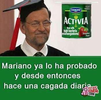 Toca Comer.   El efecto de Activia en Mariano Rajoy. Marisol Collazos Soto, Rafael Barzanallana