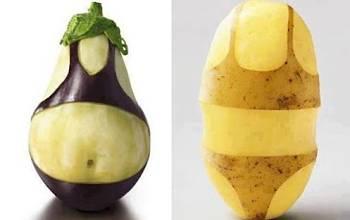 Toca Comer.   Cuerpos berenejena y patata. Marisol Collazos Soto, Rafael Barzanallana