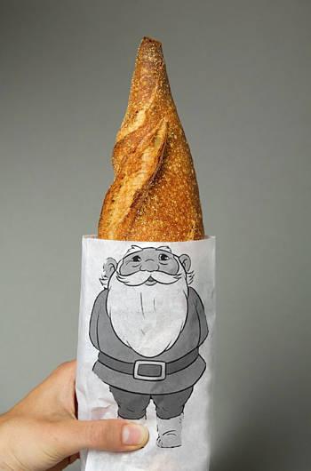 Toca Comer.   Original bolsa para barras de pan. Marisol Collazos Soto, Rafael Barzanallana