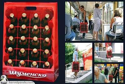 Toca Comer. Bolsa originales para la compra,caja cerveza. Marisol  Collazos Soto