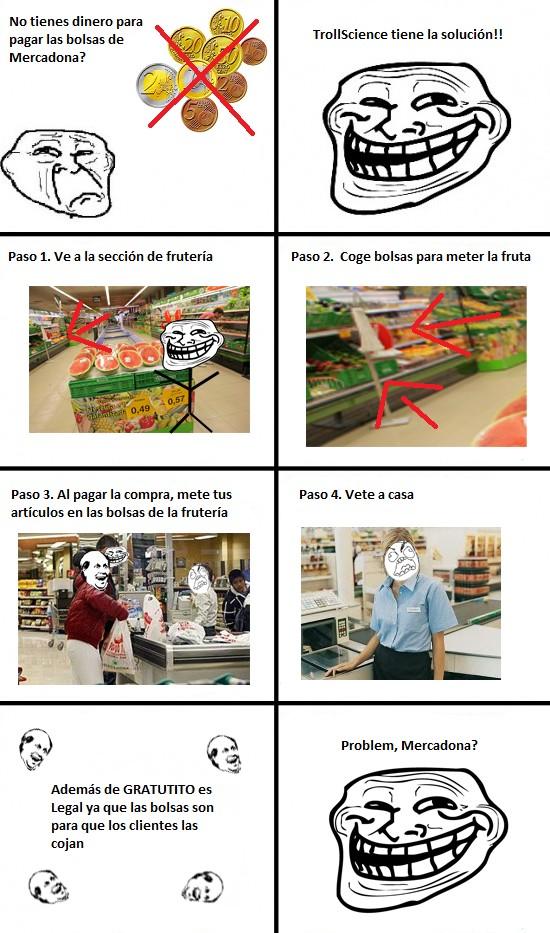 Toca Comer. Bolsas de plástico gratis en Mercadona. Marisol Collazos Soto