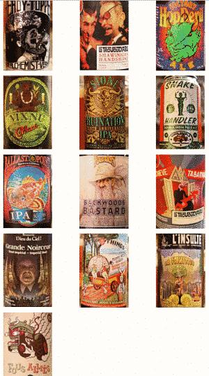 Toca Comer.  Bonitas etiquetas de cervezas. Marisol Collazos Soto, Rafael Barzanallana