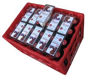Toca Comer. Cajas de Coca Cola para distribuir medicinas. Marisol Collazos Soto, Rafael Barzanallana