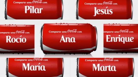 Toca Comer. Coca Cola personaliza las latas con nombres propios. Marisol Collazos Soto, Rafael Barzanallana