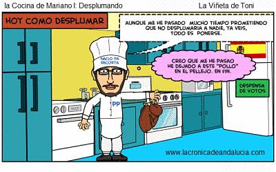 Toca Comer. Humor, Mariano Rajoy despluma. Marisol Collazos Soto