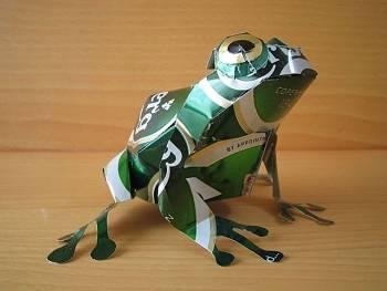 Toca Comer. Esculturas hechas con latas de aluminio. Marisol Collazos Soto, Rafael Barzanallana