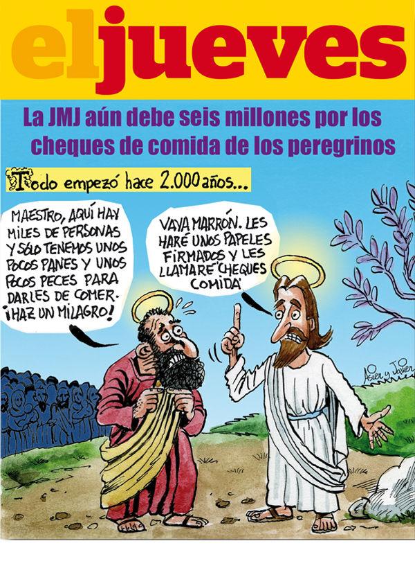 Toca Comer. La Iglesia Católica no paga os vales comida de los peregrinos de la JMJ 2011. Marisol Collazos Soto