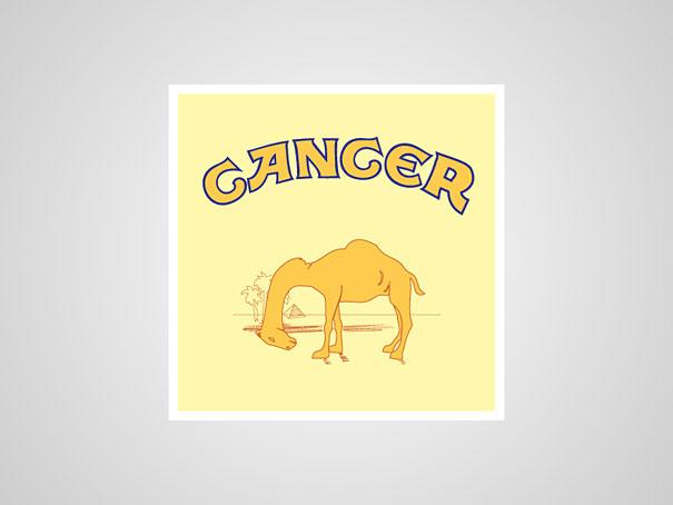 Toca Comer. Logo honesto de tabaco Camel. Marisol Collazos Soto