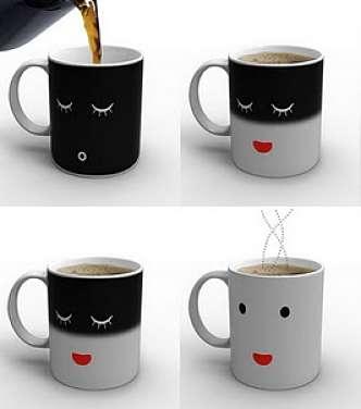 Toca Comer. Mugs originales, con cara dibujada. Marisol Collazos Soto