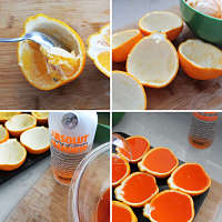Toca Comer.Gajos de naranja Jello Shots. Marisol Collazos Soto, Rafael Barzanallana