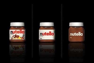 Toca Comer. Envase con diseño simple y limpio de Nutella. Marisol Collazos Soto