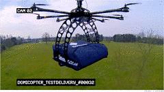 Toca Comer. Domino's prueba el envío de pizzas con drones voladores. Marisol Collazos Soto, Rafael Barzanallana