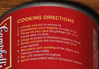 Toca Comer. Humor, Humor en lata de sopa Campbell's, sobre cocción . Marisol Collazos Soto, Rafael Barzanallana