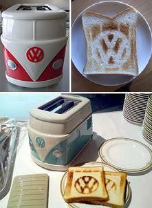 Toca Comer. tostadora estilo VW. Marisol Collazos Soto