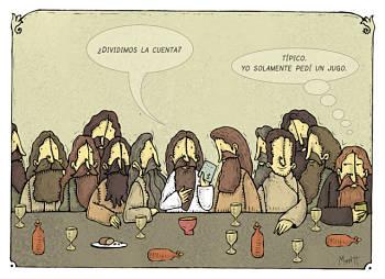 Toca Comer.  Humor de Jesucristo en