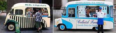 toca Comer. camionetas de venta ambulante de helados USA, mediados siglo xx. Marisol Collazos Soto